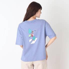 【つながる】横断歩道ママTシャツ (ブルー)