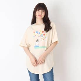 【つながる】シャボン玉ママTシャツ (アイボリー)