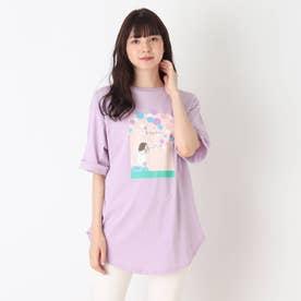 【つながる】シャボン玉ママTシャツ (ライトパープル)