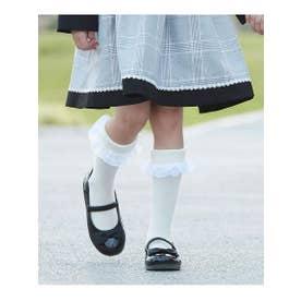 シューグー キッズ SHOO-LA-RUE(Kids) 【18-20cm/セレモニー】KIDSリボンバレエシューズ (ブラック)