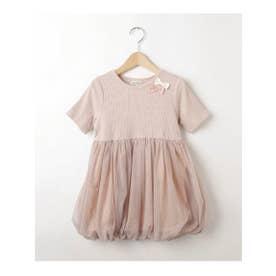 シューグー キッズ SHOO-LA-RUE(Kids) 【90-130cm】チュールバルーンドッキングワンピース (ピンク)