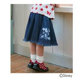シューグー キッズ SHOO-LA-RUE(Kids) 【Disney/ディズニー】デニムフリンジスカート (ブルー)