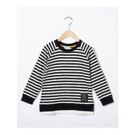 シューグー キッズ SHOO-LA-RUE(Kids) 【90-130cm】レイヤード風ラグランスリーブロングTシャツ (ブラック)