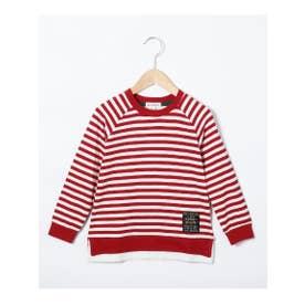 シューグー キッズ SHOO-LA-RUE(Kids) 【90-130cm】レイヤード風ラグランスリーブロングTシャツ (レッド)