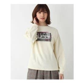 【親子リンク】mamaフォトプリントスウェット (アイボリー(004))