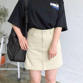 5ポケット台形ミニスカート スカート (ベージュ)
