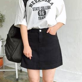 5ポケット台形ミニスカート スカート (ブラック)