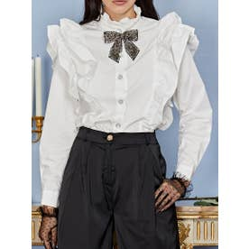 Mary's Reign Ruffle Shirt (IVORY)
