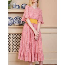 Bakewell Lace Midi Dress (PINK)