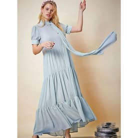 Talent Tiered Maxi Dress (BLUE)