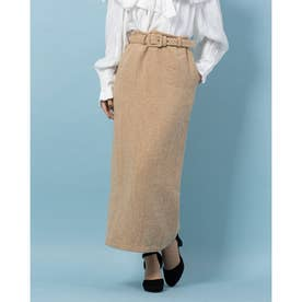 Marmee Tweed Midi Skirt (YELLOW)