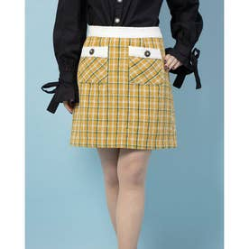 Sister's Tweed Mini Skirt (YELLOW)