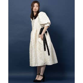 Novel Jacquard Midi Dress (IVORY)