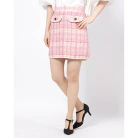 Prom Tweed Mini Skirt (PINK)