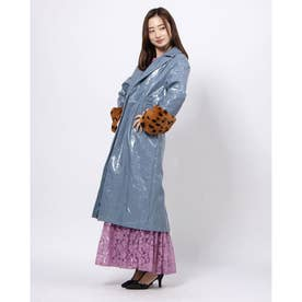 Rain Flower Trench Coat (BLUE)