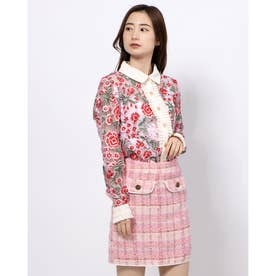 Formal Embroidered Blouse (RED)