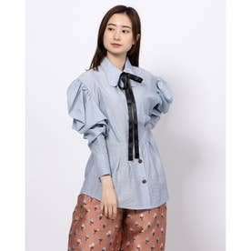 Mover Retro Bow  Blouse (BLUE)