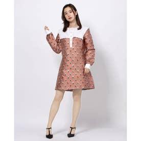 Parade Jacquard A-line Mini Dress (PINK)