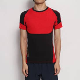 メンズ フィットネス 半袖コンプレッションインナー スキンフィットS/Sシャツキリカエ KMMOJA54