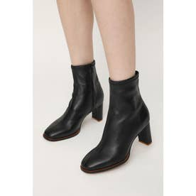LEATHER ANKLE SHORT BOOTS (ブラック)