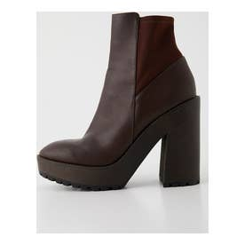 FIT CHUNKY HEEL BOOTS BRN