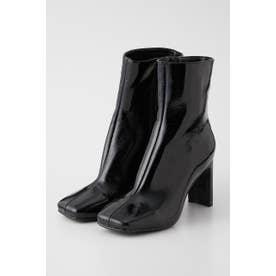 PATENT SLIM FIT ブーツ BLK