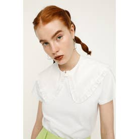 ATTACHED FRILL COLLAR WHT