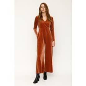 VELOUR JUMP SUITS (ダークピンク)