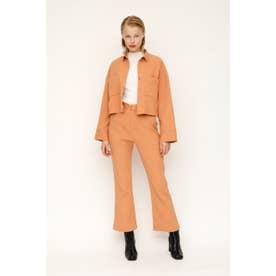 CRAPE FLARE パンツ (ライトオレンジ)