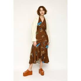 YARD FLOWER GOWN DRESS (M/ブラウン)