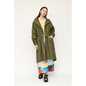 HOODED MILITARY コート (カーキ)