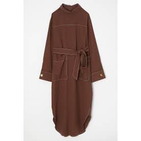 REVERSE SH DRESS (ブラウン)