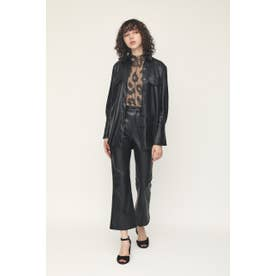SKIN LEATHER TROUSERS (ブラック)