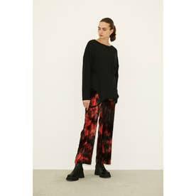 VELOURS TIE-DYE TROUSERS (M/レッド)