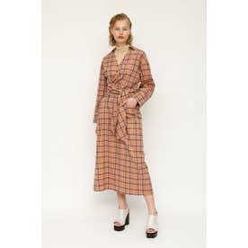 AIRY CHECK TWIST TIE ドレス M/BEG7