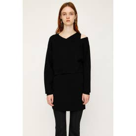 OFF SHOLDER LAYERED 2P BLK