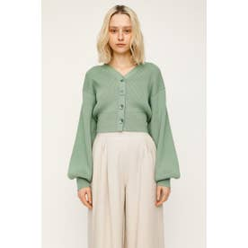 PUFF SLEEVE CROPED カーディガン L/MINT1