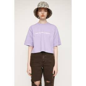 WIDE S/L CROPPED LOGO Tシャツ L/PUR1