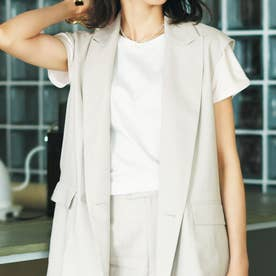 MERCERIZE SHOULDER TUCK Tシャツ O/WHT1