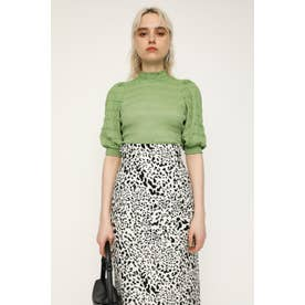 PUFF SLEEVE LACE トップス GRN