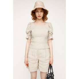 CROPPED PUFF SLEEVE LINEN トップス IVOY3
