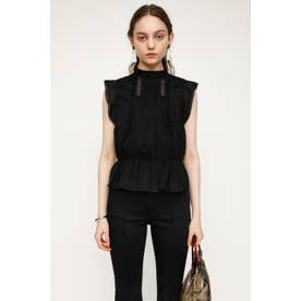 H/N COTTON FRILL トップス BLK
