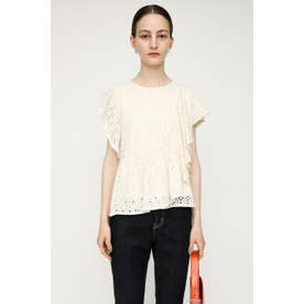 EYELET LACE FRILL トップス WHT