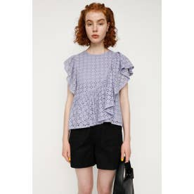 EYELET LACE FRILL トップス L/PUR1