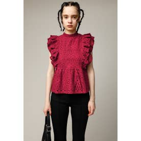 RUFFLE LACE トップス D/RED3