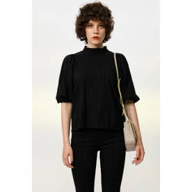 PUFF SLEEVE COTTON LACE トップス BLK