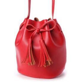 ころんとしたフォルムが可愛い おしゃれな巾着バッグ ミニショルダーバッグ SSA02-RED (RED)
