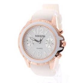 SORRISO ソリッソ ビッグケースにラバーベルトのカジュアル腕時計 フェイクダイヤル SRF7-WHWH(WHWH)