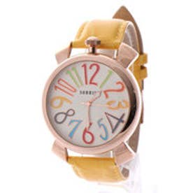 SORRISO ソリッソ 上部リューズのビッグケースにイタリアンデザイン腕時計 SRF9L-PGYL(PGYL)