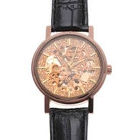 自動巻き腕時計 ゴールドケース シンプル機能のフルスケルトン腕時計 機械式腕時計 ATW021-GLD (GLD)